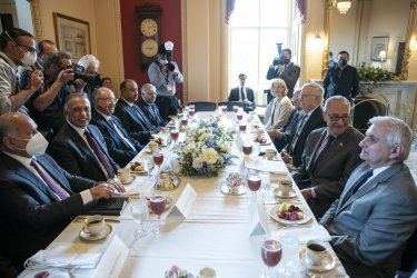 Schumer and McConnell Meet with Iraq Prime Minister Mustafa Al-Kadhimi at US Capitol