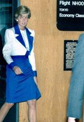 Princess Diana arrives at Washington Dulles International Airport