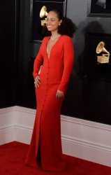 Alicia Keys arrives for the 61st Grammy Awards in Los Angeles