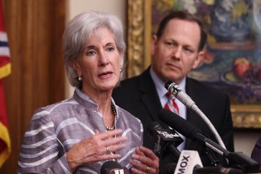 U.S. Secretary of Health and Human Services Kathleen Sebelius in St. Louis