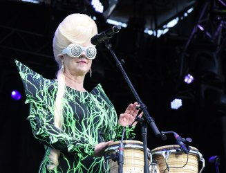 The B-52s perform at KAABOO Texas at AT&T Stadium