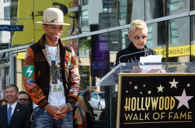 Pharrell Williams receives star on Hollywood Walk of Fame in Los Angeles
