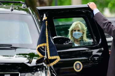 President Biden Arrives on Marine One in Washington