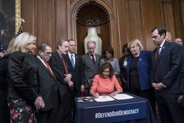 Speaker Pelosi Signs the Articles of Impeachment