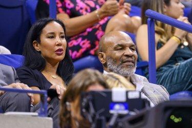 Mike Tyson and Lakiha Tyson attend the US Open