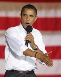Barack Obama visits Irvine Park in Beaver Pennsylvania.
