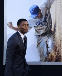 "Chadwick Boseman attends the ""42"" premiere in Los Angeles"