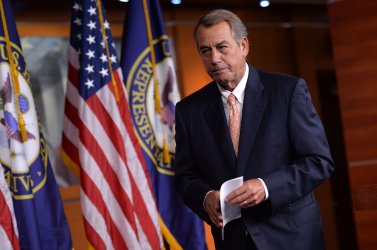 Speaker Boehner speaks to the press in Washington, D.C.