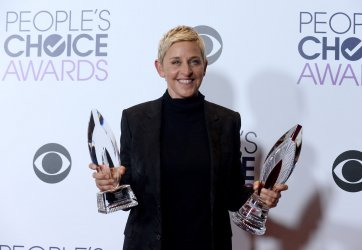 Ellen DeGeneres garners award at the 42nd annual People's Choice Awards in Los Angeles