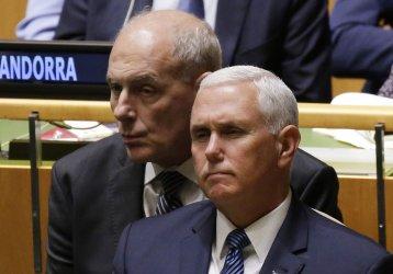 Mike Pence and John Kelly at the UN GA