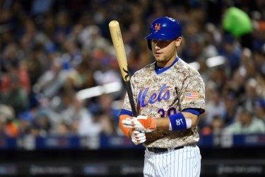 New York Mets left fielder Michael Conforto against the Atlanta Braves at Citi Field