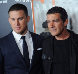 """Channing Tatum and Antonio Banderas attend the """"Haywire"""" premiere in Los Angeles"""