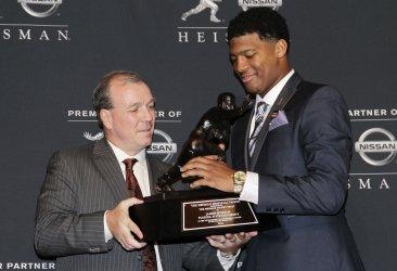 Florida State University Jameis Winston wins the Heisman Trophy Award