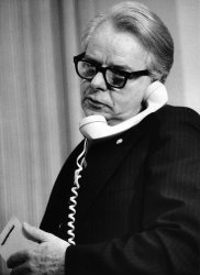Sen. Robert Byrd on the phone