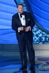 TV personality James Corden onstage at the 68th Primetime Emmy Awards in Los Angeles