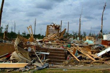 Residents return home to survey tornado damage in Alabama