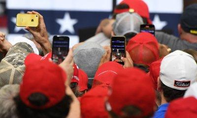 President Trump leads a campaign rally in Dallas