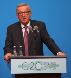 EU delegation holds a press cofernece at the G20 in Hangzhou