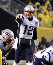New England Patriots Tom Brady in Pittsburgh