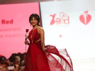 Rachel Lindsay at American Heart Association's Go Red For Women Show