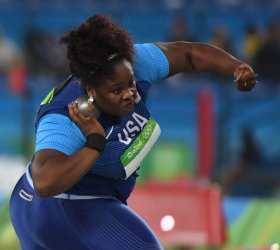 America's Michelle Carter wins gold in shot put at 2016 Rio Summer Olympics