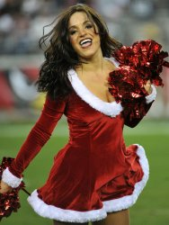 Cardinals cheerleader dances in Arizona.
