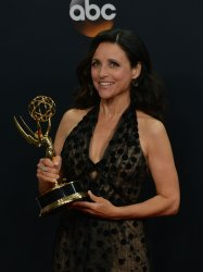 Julia Louis-Dreyfus wins an award at the 68th Primetime Emmy Awards in Los Angeles