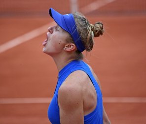 Elina Svitolina plays her fourth round match at the French Open