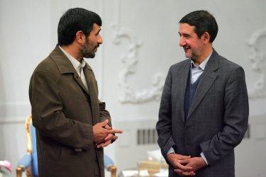 Iran's President Mahmoud Ahmadinejad .