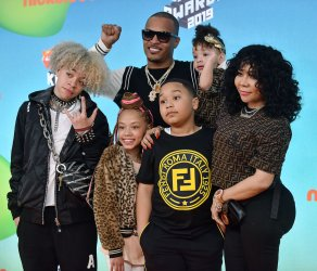 T. I. and family attends Kids' Choice Awards 2019