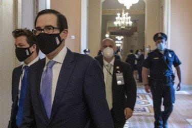 Treasury Secretary Steven Mnuchin Meets With GOP Leaders On Capitol Hill