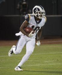 Los Angeles Rams Pharoh Cooper returns Raiders kickoff