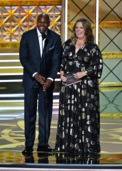 Dave Chappelle and Melissa McCarthy onstage at the 69th annual Primetime Emmy Awards in Los Angeles