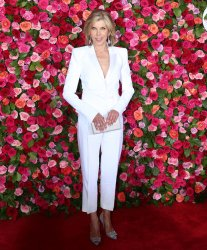 Christine Baranski arrives at the Tony Awards