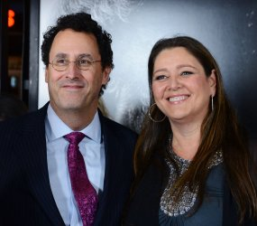 """Tony Kusher and Camryn Manheim attend the """"Lincoln"""" premiere in Los Angeles"""