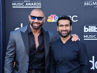Dave Bautista and Kumail Nanjiani attend the 2019 Billboard Music Awards in Las Vegas