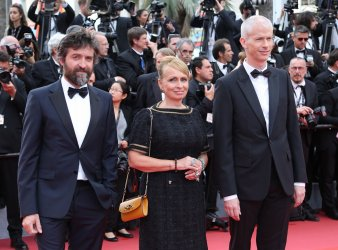 Demy, Varda and Riester attend the Cannes Film Festival