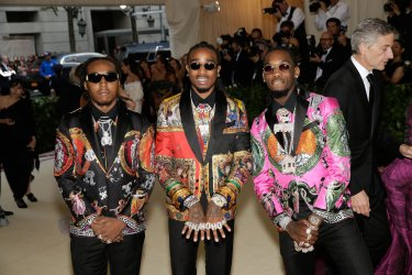 Takeoff, Quavo and Offset arrive at the Met Gala in New York