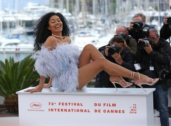 Leyna Bloom attends the Cannes Film Festival