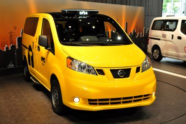 "Nissan motors hold a press conference for New York's taxi ""NV200"""