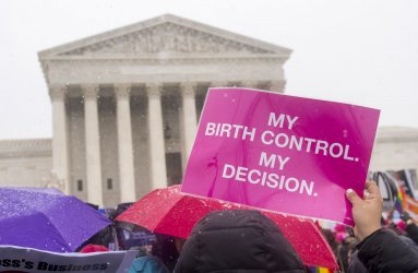 Supreme Court rally on the Birth Control Mandate in the Affordable Care Act in Washington, D.C.