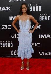 """Zoe Saldana attends the """"Star Trek Beyond"""" premiere in San Diego"""