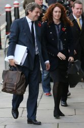 Rebekah Brooks and husband Charlie Brooks arrive at Old Bailey for phone hacking trial.