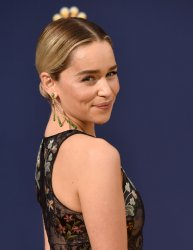 Emilia Clarke attends the 70th annual Primetime Emmy Awards in Los Angeles