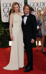 Nicole Kidman and Keith Urban arrive at the 68th annual Golden Globe Awards in Beverly Hills, California