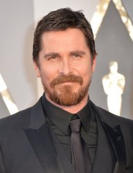 Christian Bale arrives at the 88th Academy Awards
