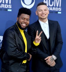 Khalid and Kane Brown attend the Academy of Country Music Awards in Las Vegas