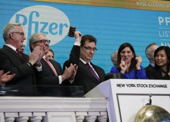 CEO of Pfizer Pharmaceutical company Albert Bourla at the NYSE