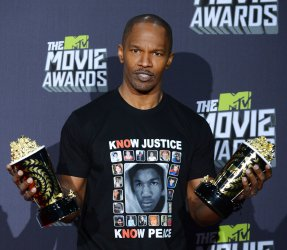 Jamie Foxx garners Generation and Best Fight awards at 2013 MTV Movie Awards in Culver City, California