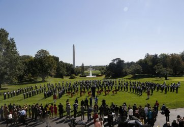 The Tennessee State Marching Band performs on the South Lawn of the White House